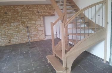 Installation d'escalier